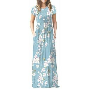 Viishow Blue Floral Maxi Dress WITH POCKETS!!!!